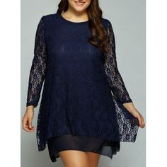SHARE & Get it FREE | Plus Size Layered Asymmetrical Lace DressFor Fashion Lovers only:80,000+ Items·FREE SHIPPING Join Dresslily: Get YOUR $50 NOW!