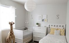 Shared nursery and toddler rooms Baby And Toddler Shared Room, Boy And Girl Shared Bedroom, Shared Bedrooms, Toddler Rooms, Baby Bedroom, Nursery Room, Boy Room, Kids Bedroom, Toddler Bed