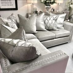 We are taking orders on pre-Christmas delivery for our made to order sofas! 12 months interest free credit available Selling Furniture, Furniture Making, Luxury Furniture, Furniture Design, Sofa Design, Interior Design, Bespoke Sofas, Furniture Boutique, Sofa Styling