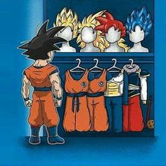 Goku's wardrobe - Visit now for 3D Dragon Ball Z shirts now on sale!