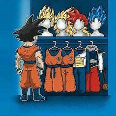 Goku's wardrobe