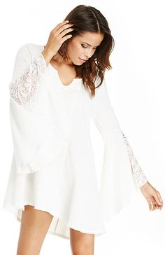 L*Space Boardwalk Tunic in Ivory XS - M | DAILYLOOK