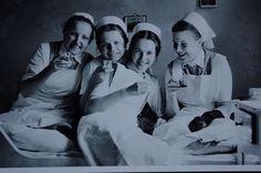 Nurses toasting early 1940s