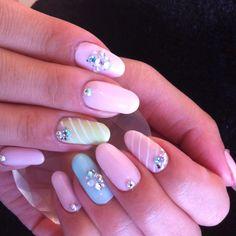 Nails in calgel! Pop candy colored and looks yummy! Calgel Nails, Beauty Tips, Beauty Hacks, Mini Canvas, Looks Yummy, Mani Pedi, Nail Art Designs, Art Ideas, Finger