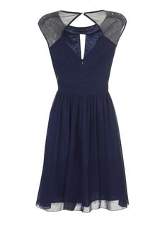 Photo 2 of Little Mistress Navy Fit And Flare Dress