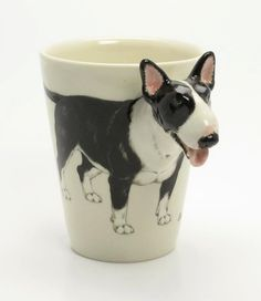 English Bull Terrier Coffee Mug a unique gift for pet by lilPawsUp GREAT FOR XMAS!