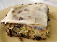 Preacher Cake 3P+ (24 servings) (subs - 1C sugar, raisins instead of nuts and no frosting)