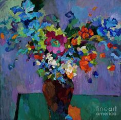 Larisa Aukon, Until the Night is Over, oil, 30 x - Southwest Art Magazine Arte Floral, Abstract Flowers, Abstract Art, Southwest Art, Nocturne, Magazine Art, Painting Inspiration, Art Images, Art Lessons