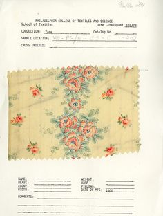 Rose print from 1906.