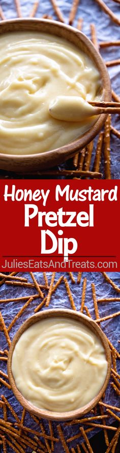 Honey Mustard Pretzel Dip Recipe ~ Quick and Easy Dip for the Perfect Appetizer! Sweet and Tangy Honey Mustard Dip Perfect for Dipping with Pretzels!