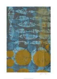 World Art Group, Textured Circles II, Jennifer Goldberger