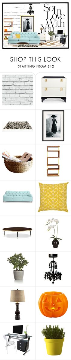 """""""Kate Spading it...."""" by lindagama on Polyvore featuring interior, interiors, interior design, home, home decor, interior decorating, Kate Spade, Linie Design, Orla Kiely and Sia"""