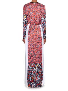 Fan floral-print long-sleeved gown | Caterina Gatta | MATCHESFASHION.COM
