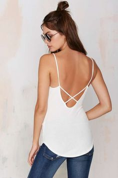 Nasty Gal Daytona Demon Plunging Knit Cami Top