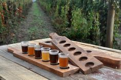 beer tasting tray beer flight tray beer by Elevatedpartysupply