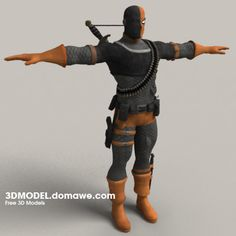 Free 3D Models :: Deathstroke - Free Character 3D Model - details are a bit off for DCUO but a great starting reference!