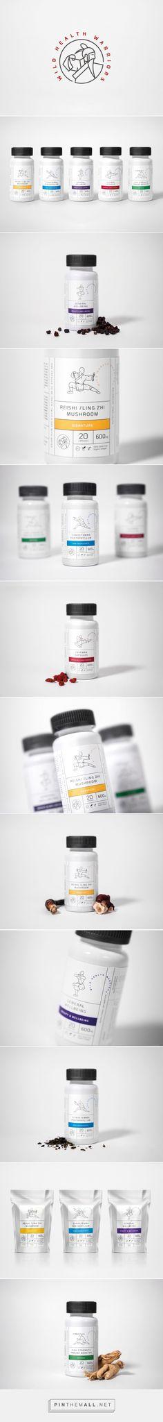 Wild Health Warriors packaging design by Arobase Creative - http://www.packagingoftheworld.com/2016/12/wild-health-warriors.html