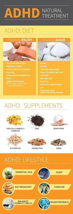 ADHD, Diet and Treatment Adhd Odd, Adhd And Autism, Autism Diet, Natural Treatments, Natural Remedies, Herbal Remedies, Holistic Remedies, Medicine Notes, Adhd Medicine
