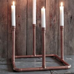 Easy DIY project for a shiny christmas season: Step by step tutorial with pictures for a copper advent wreath. In german.