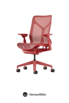 Create a comfortable, beautiful office with Cosm—now available with height-adjustable arms in the chair's signature Dipped-in-Color aesthetic. Ideal for spaces across the floorplan—from collaborative settings to individual workstations—this office chair comes in six colors. Choose from three saturated Dipped-in-Color options or three neutrals to brighten office workspaces. Sayl Chair, Comfortable Office Chair, Home Office Chairs, Ergonomic Chair, Modern Desk, Workspaces, Herman Miller, Little Houses, Side Chairs