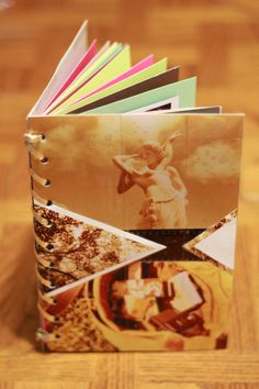 You don't want to keep your instant pictures in a box?  We have an interesting idea of how to make your own photo album