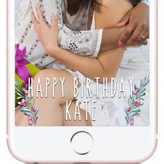 Custom made Birthday Snapchat Geofilter. Boho Floral Watercolor Snapchat Geofilter | W H Y C H O O S E B E A U T I F U L L Y F I L T E R E D ? |  The difference between choosing Beautifully Filtered to create your next Snapchat Geofilter versus the other guys is because I give the customer little to no requirements when creating the design. The photos you see in my shop are simply ideas, examples, or designs that have already been approved by Snapchat and used.  If you want a red, white…