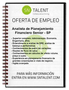 #Empleo Analista de Planejamento #Financeiro Sênior en #Brasil SP