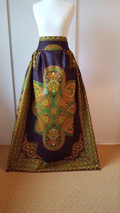 African Printed Maxi Skirt  Java Maxi Skirt  High Waist Maxi