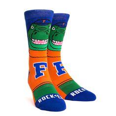 Rock 'Em Elite Florida Gators - Albert Mascot Knitted Licensed Crew Socks