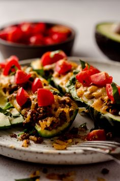 Gluten Free Recipes For Dinner, Healthy Dinner Recipes, Ground Beef Stuffed Zucchini, Ground Beef Tacos, Zucchini Boats, Healthy Tacos, Make Ahead Meals, Lunches And Dinners, Rice