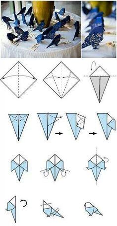 Periquito de origami