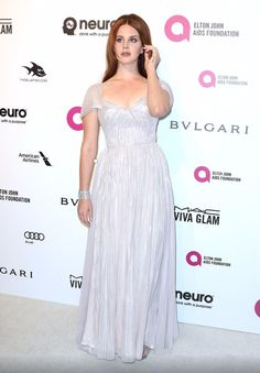 Lana Del Rey at the Annual Elton John Academy Awards Viewing Party.