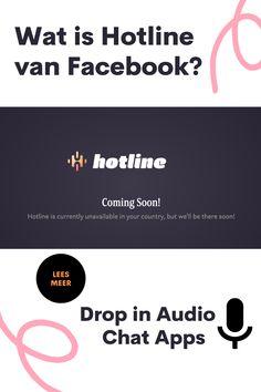 Hotline; hét antwoord van Facebook op de razend populaire 'Drop-in-Audio' chat' Clubhouse 🎙 met haar 13 miljoen gebruikers (in 1 jaar). Hotline gaat ook werken met emoji's en video. Ook gaat Hotline anders om met het opnemen van de gesprekken. Lees hier meer over de nieuwste trend👇 #Hotline #HotlineAudio #HotlineApp #SMM #SocialMediaManager #SocialMediaTrends #DropInAudioChat Social Media Company, Facebook, Apps, Van, App, Vans, Appliques, Vans Outfit