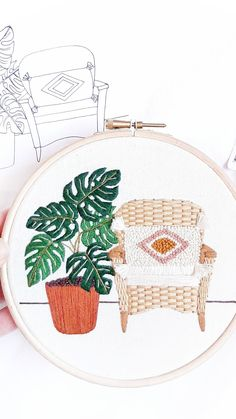Flower Embroidery Designs, Hand Embroidery Stitches, Embroidery Hoop Art, Contemporary Embroidery, Modern Embroidery, Cross Stitch Patterns, Creations, Couture, Decoration