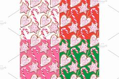 Watercolor sweets seamless pattern by Art By Silmairel on @creativemarket