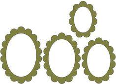 Big scalloped ovals - Monica's Creative Room