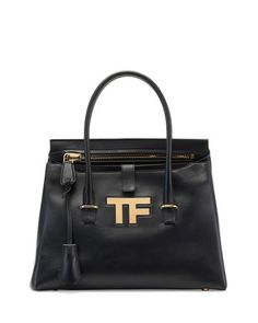 V26XA Tom Ford TF Icon Medium Satchel Bag, Black