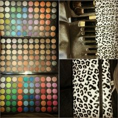 Eyeshadow pallet & makeup brushes came in today!!! :)