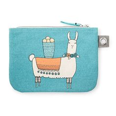 Llamarama Large Zipper Pouch, featuring an illustration of a cute llama. Available at Uncommon Goods. Alpacas, Zipper Bags, Zipper Pouch, Cute Gifts, Diy Gifts, Large Cosmetic Bag, Llama Gifts, Christmas Gifts For Girls, Parent Gifts