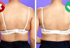 BEST FASHION TIPS Every woman who wears a bra but knows that it's not an easy thing to deal with. Bh Hacks, Le Slime, Bra Extender, Low Cut Dresses, Girly, Clothing Hacks, Fabric Dolls, Lifehacks, Hair Treatments