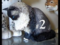 @imacraftydiva  .. Never knew how they made the SHAPE FORMS --about minute 12 you can see the styrofoam and cardboard 3D ... SUPER cool. This gal is amazing. Super easy to follow, pleasant, and makes me wanna tackle this. What do you think, Laura?     How to Make a Paper Mache Cat, Lesson 2