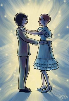 """""""Well I was thinking, I dunno… maybe we can go to the Snow Ball together."""" - Mike Wheeler and Eleven from Stranger Things by Kate Baxter."""