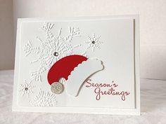 Santa Hat Greetings by pdncurrier - Cards and Paper Crafts at Splitcoaststampers