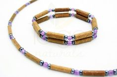 Natural Hazelwood Amethyst Necklace & by TaigaNaturalsShop on Etsy, $36.00