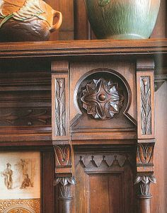 Mantel detail from 1881 Summit Ave home in St. Paul, MN.