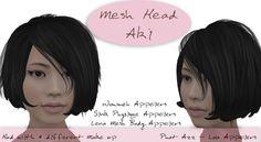 HD Skin Design Mesh Head Aki