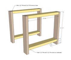 ana white | build a tryde end table with shelf - updated pocket