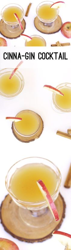 This holiday cocktail is a twist on apple cider. With cinnamon and gin, this will be the hit of your holiday party!