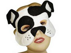 Children's WHITE Dog Felt Mask