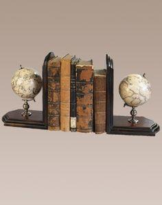 Globe book ends
